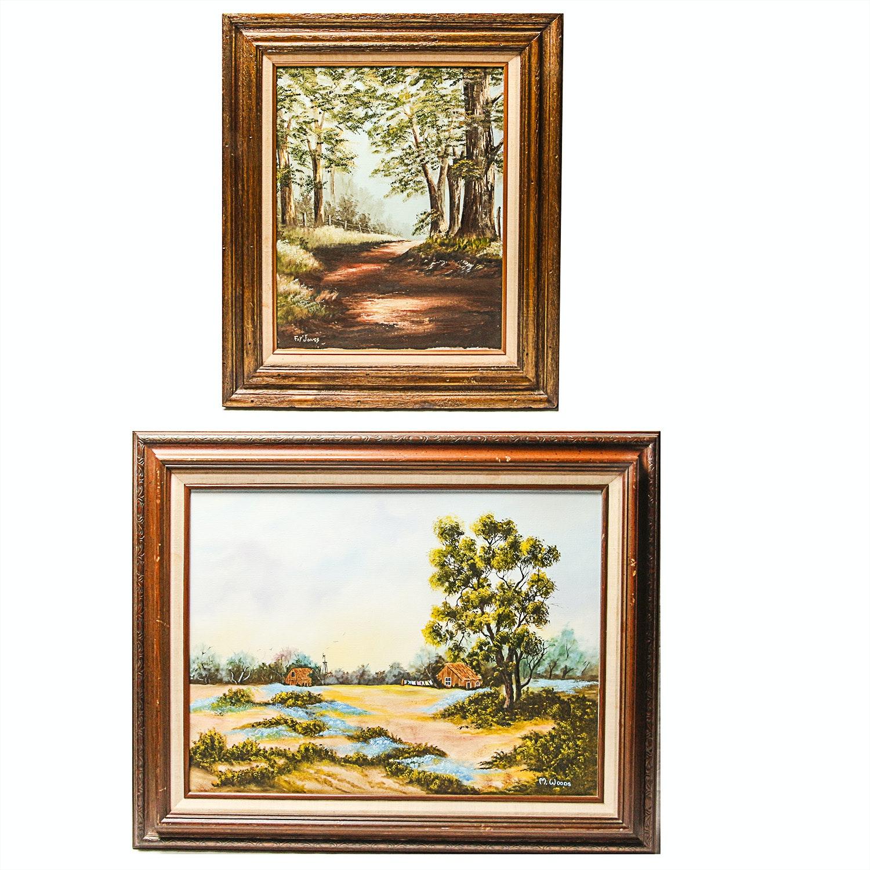 Pair of Original Oil Landscape Paintings