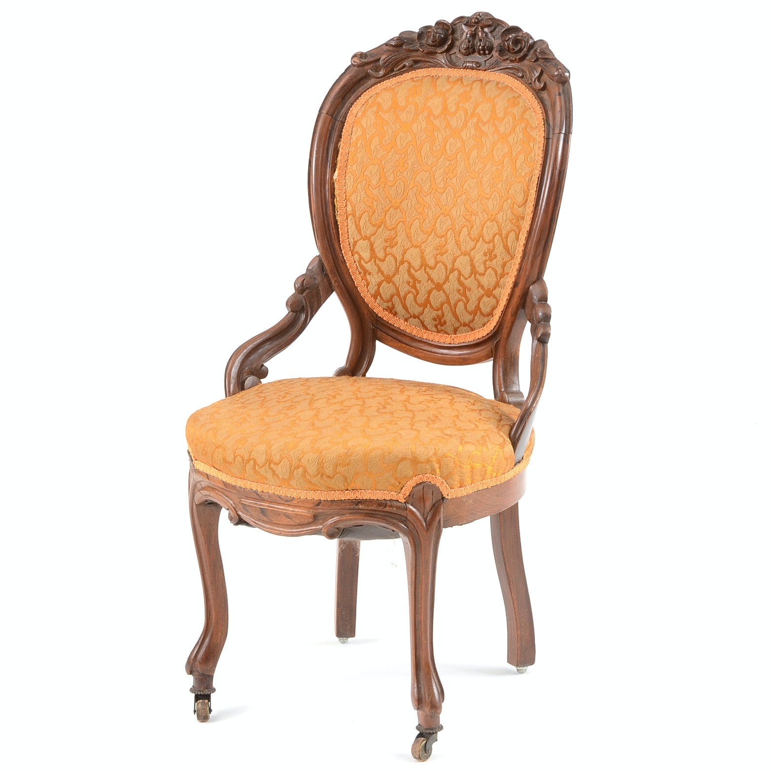 Victorian Carved Rosewood Parlor Chair