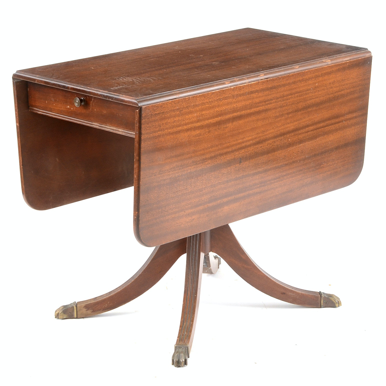 Federal Style Mahogany Drop-Leaf Table