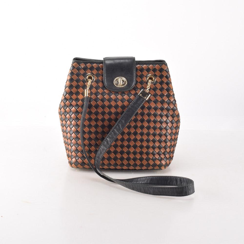 Tan and Black Bottega Veneta Shoulder Bag