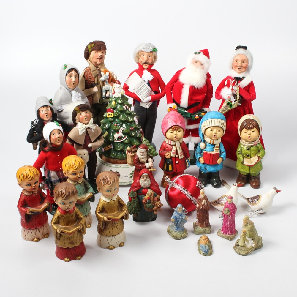 Christmas Decor Featuring Byer's Choice Carolers