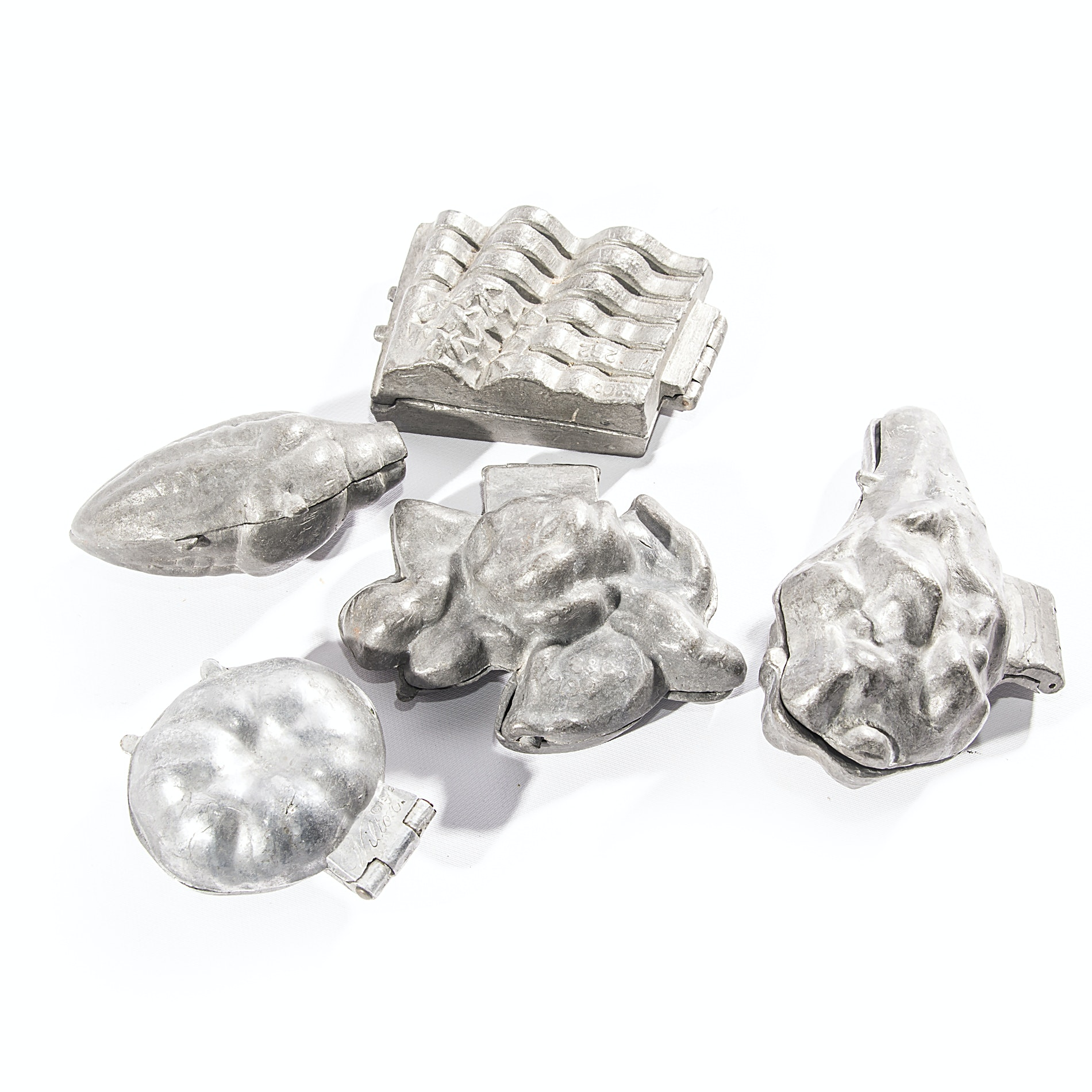 Vintage Pewter Ice Cream Molds