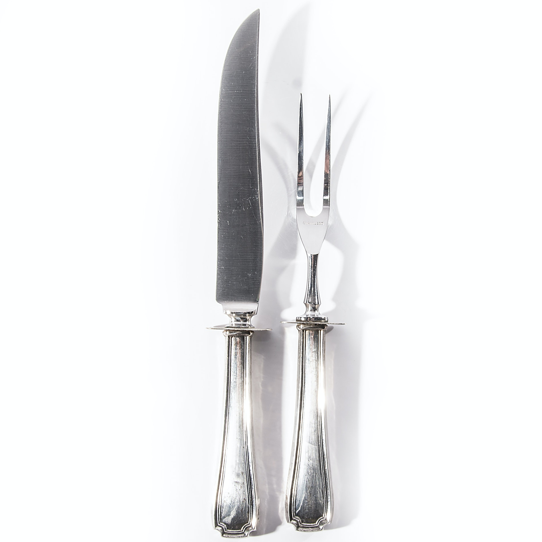 Sterling Silver and Stainless Steel Carving Set