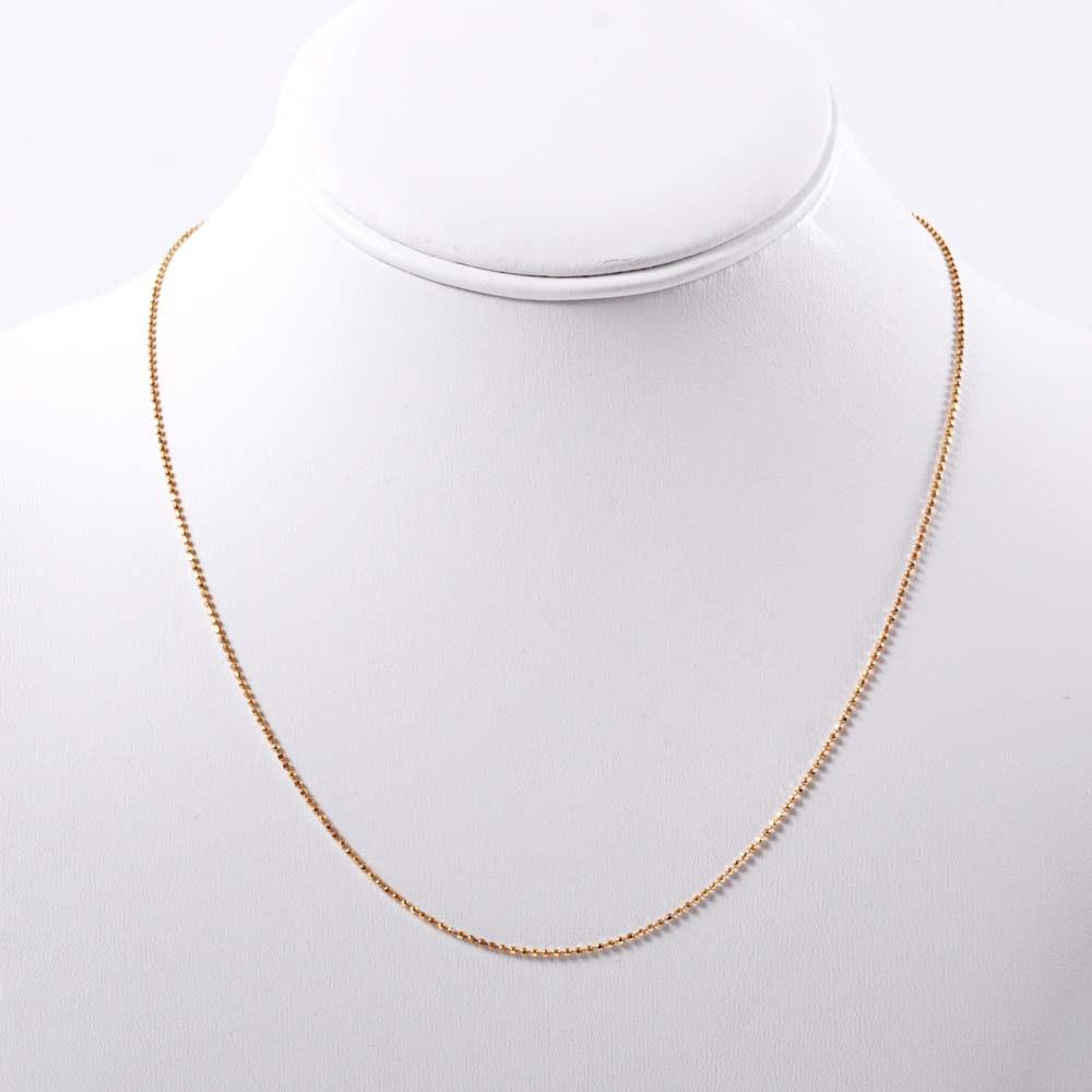 18K Gold Beaded Chain