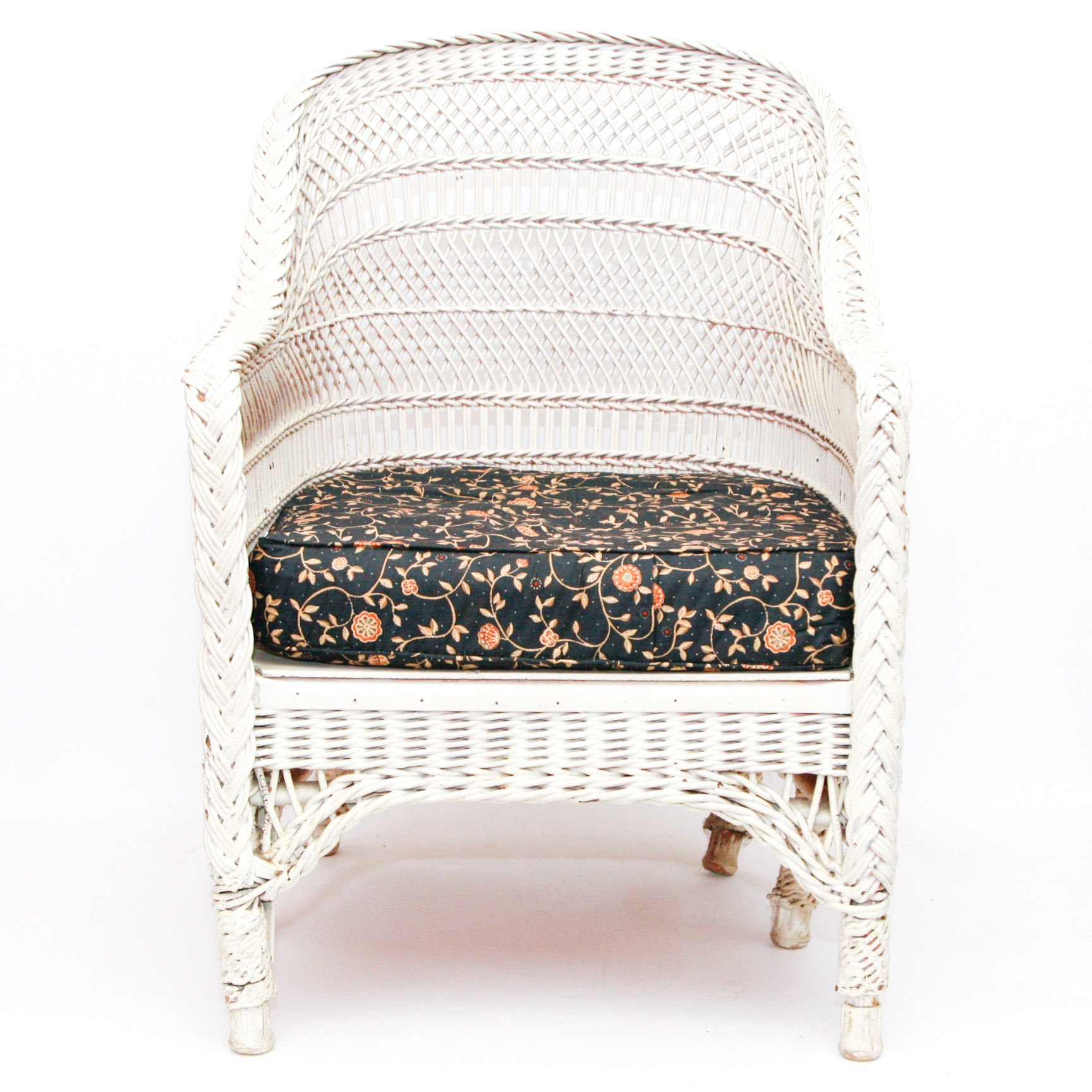 White Wicker Armchair