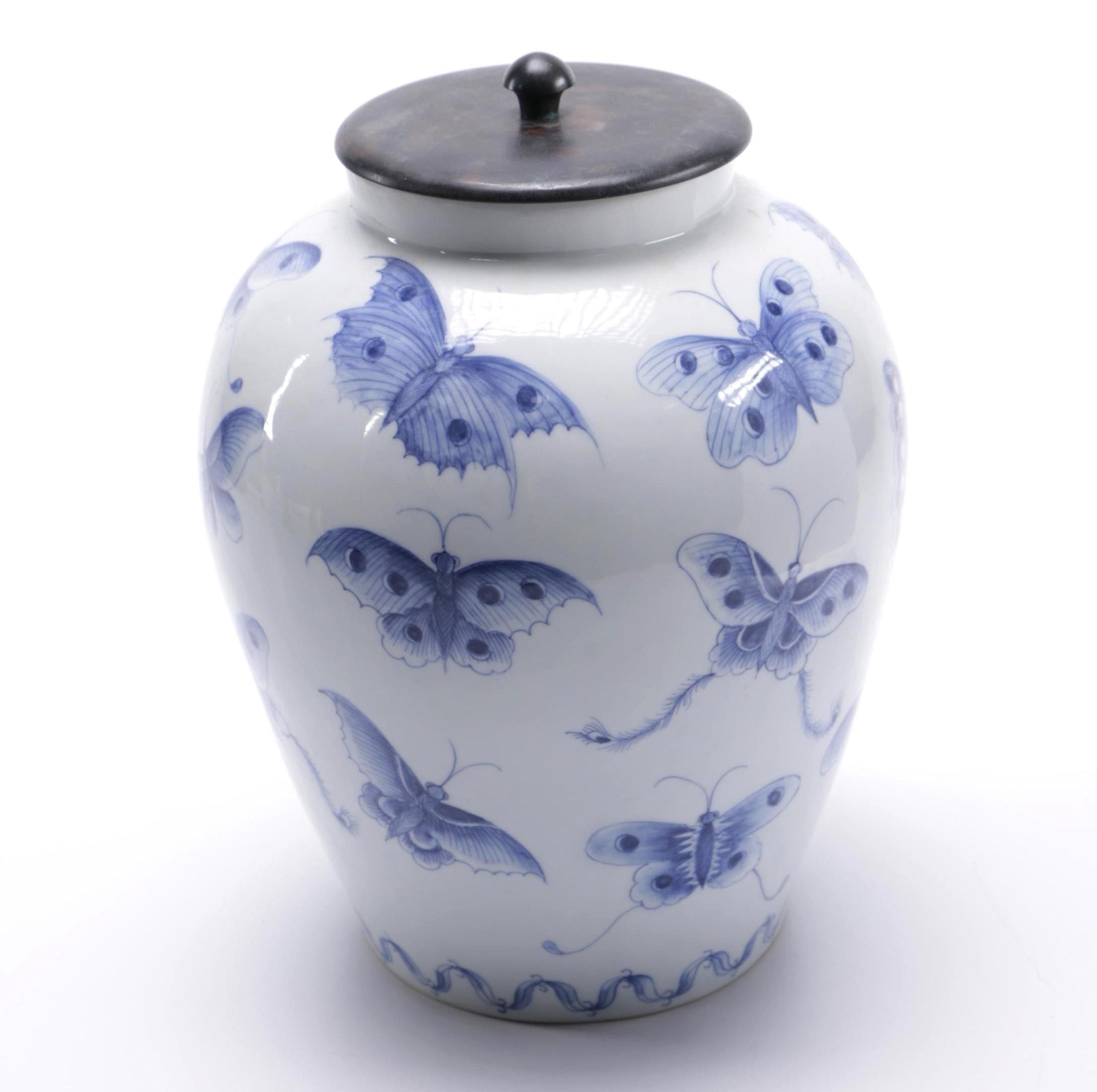 Ceramic Lidded Urn