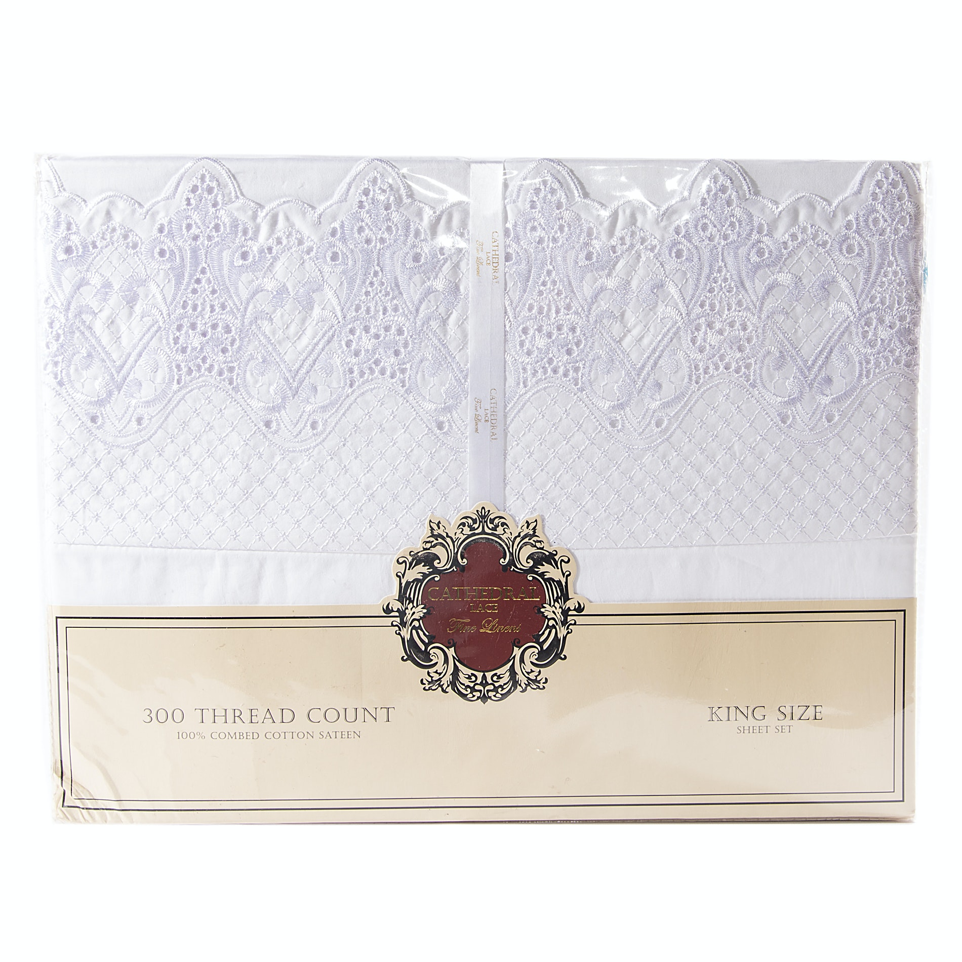 Cathedral Lace King Size Sateen Sheets