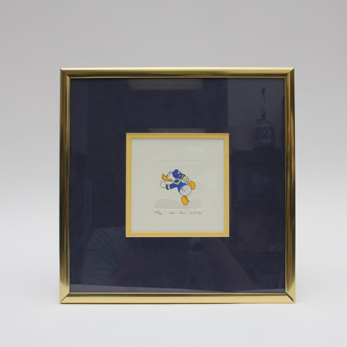 Sowa & Reise Limited Edition Hand Colored Etching of Disney's Daffy Duck
