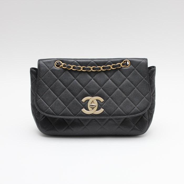 Chanel Quilted Caviar Leather Handbag