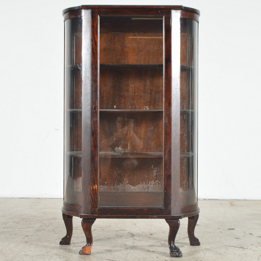 Company Furniture: Antique Bow Front China Cabinet By The Ebert Furniture