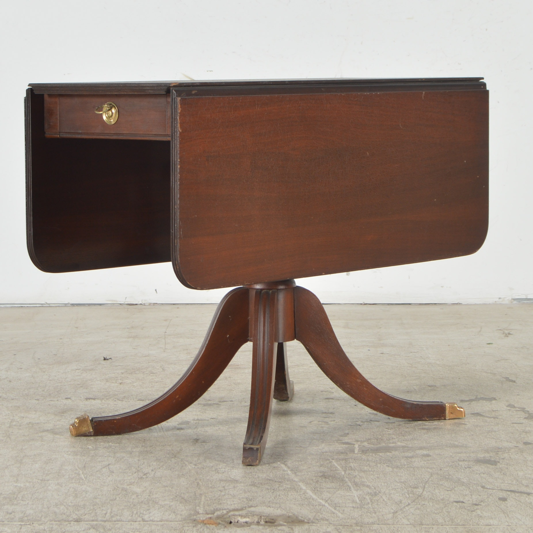 Duncan Phyfe Style Mahogany Drop Leaf Table