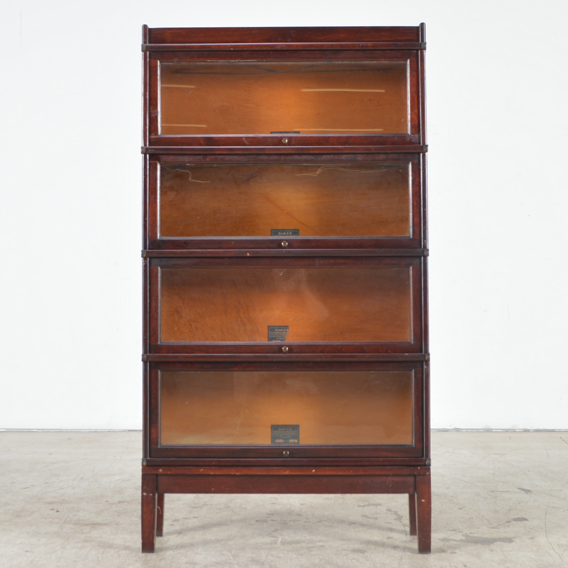 Antique Barrister Bookcase by Baker Office Furniture Co.