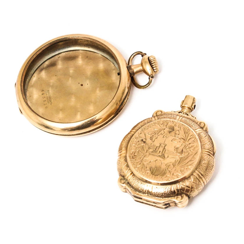 Two 14K Yellow Gold Pocket Watch Cases