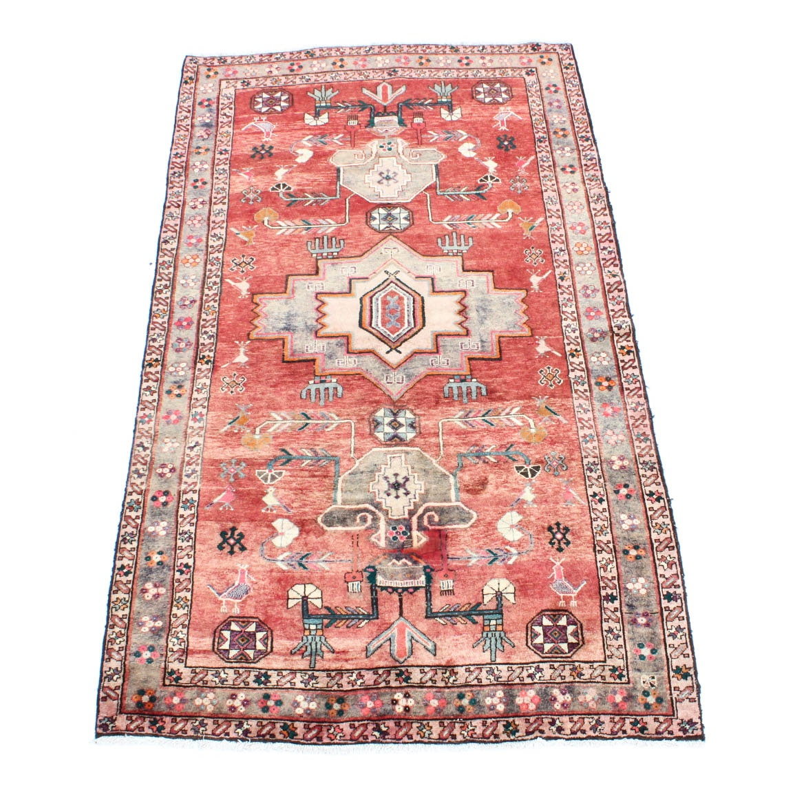 "Handwoven 5'3"" x 9'3"" Persian Mahal Pictorial Area Rug"
