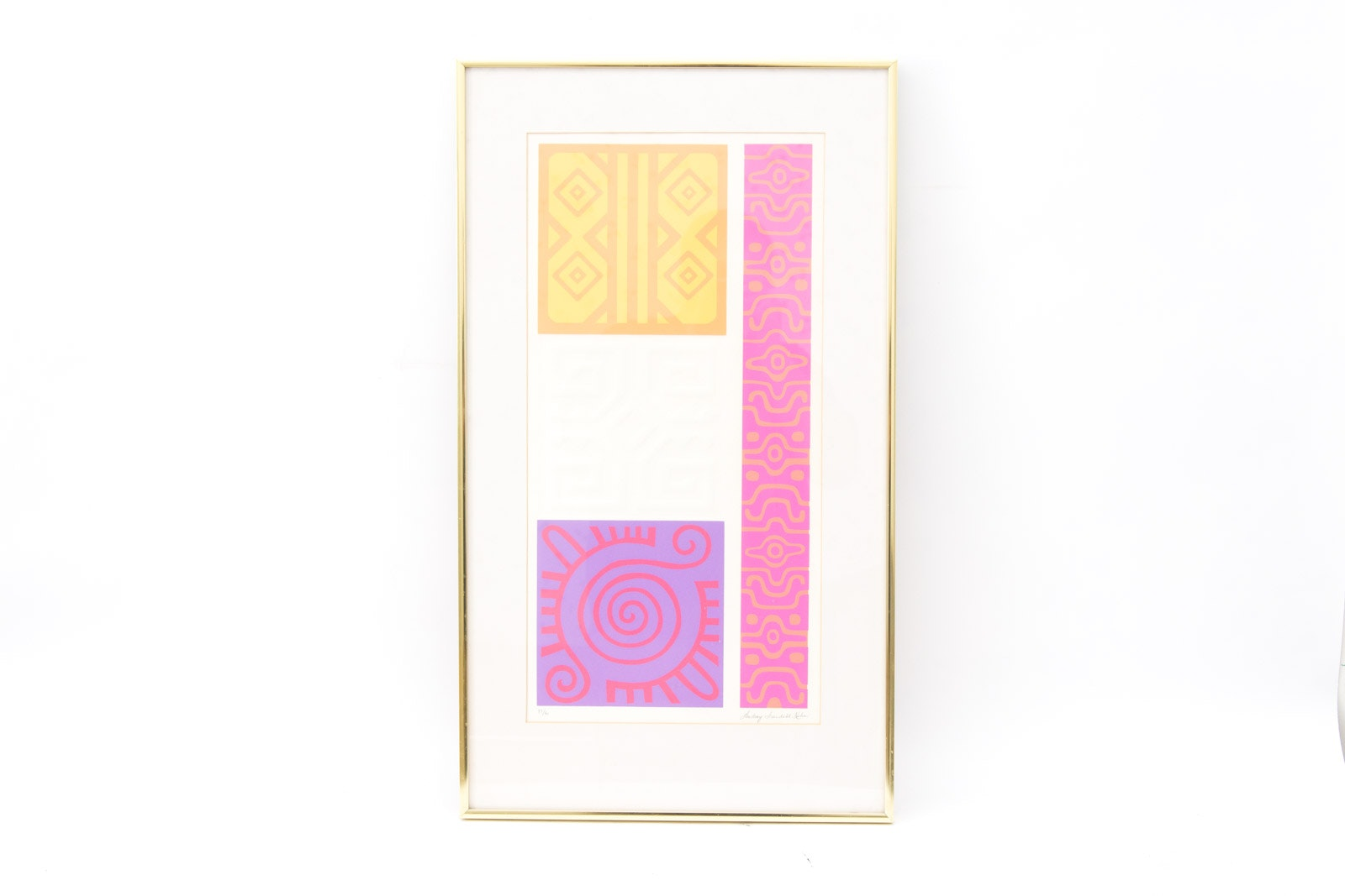Audrey Grendahl Kuhn Limited Edition Embossed Serigraph