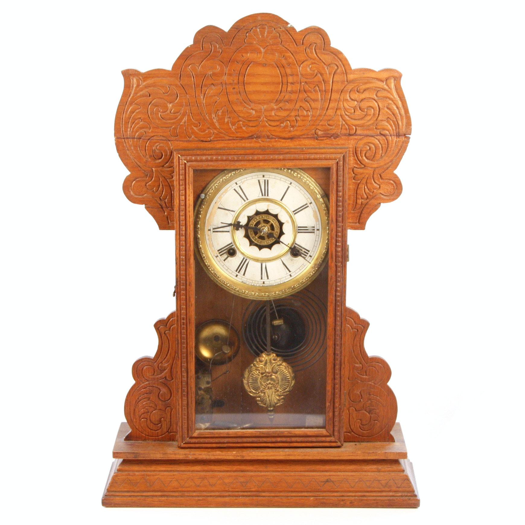 Antique Waterbury Clock Co. Mantel Clock