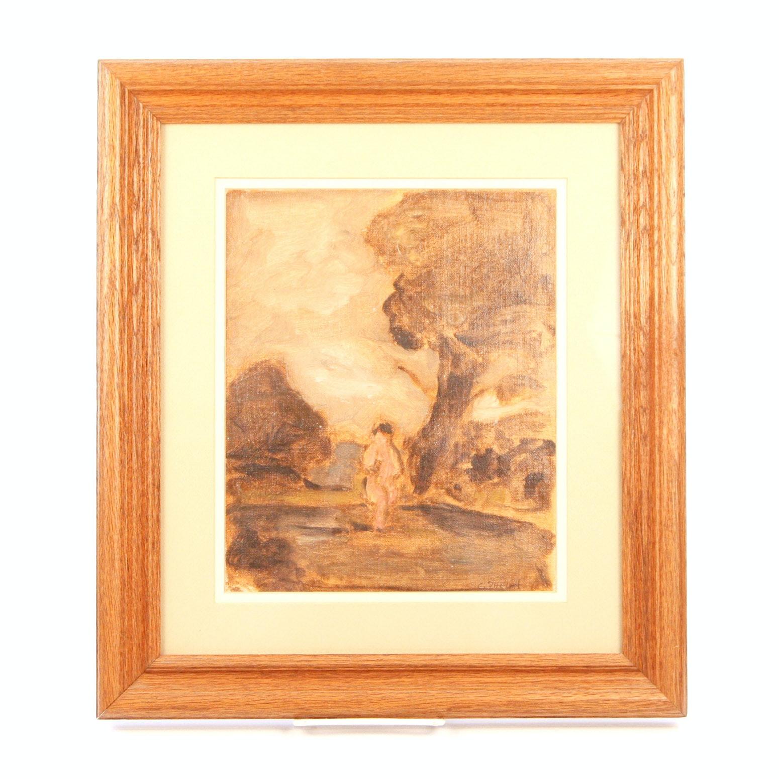 C. Phelan Framed Oil on Canvas