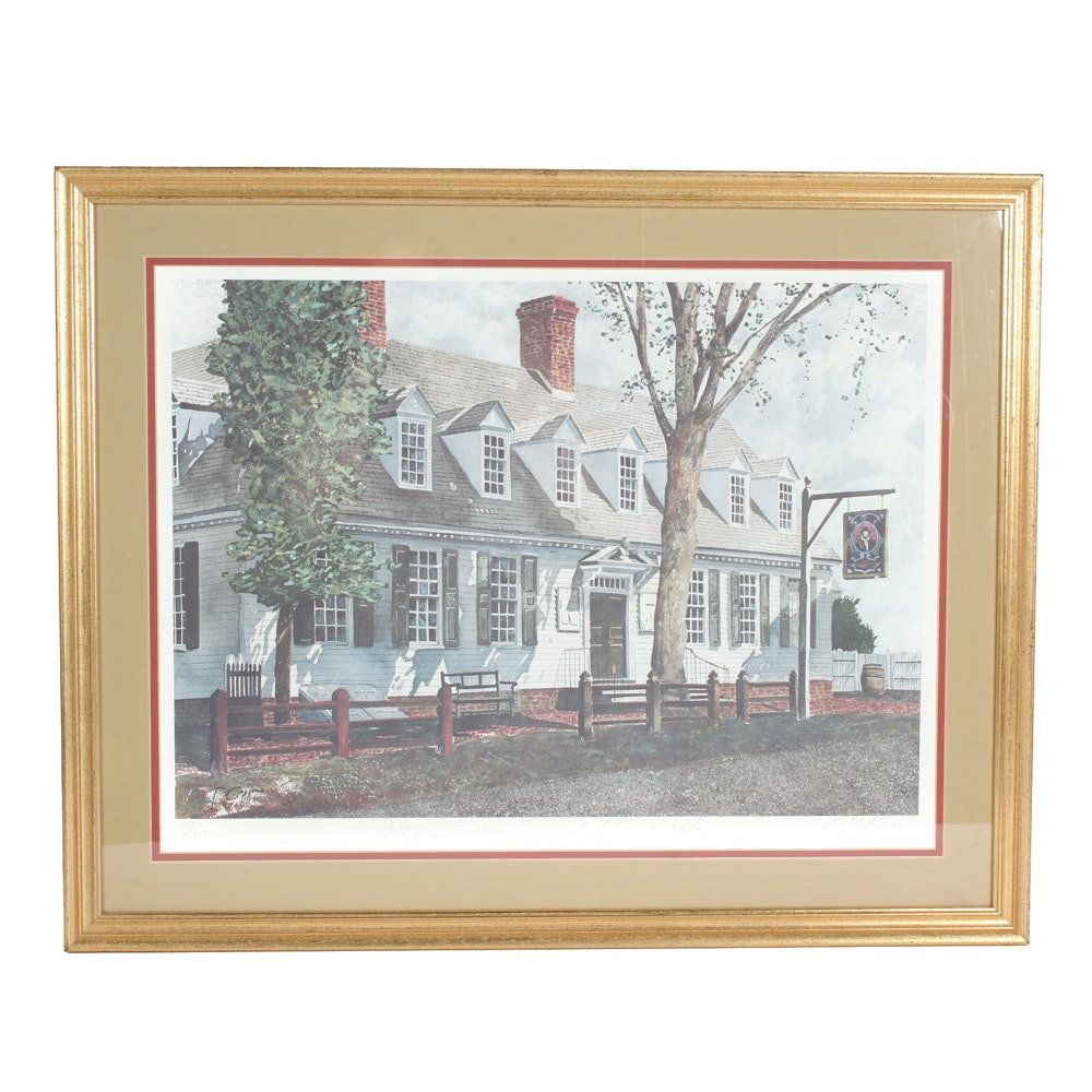 "T. Coffman ""Raleigh Tavern Spring"" Limited Edition Offset Lithograph"