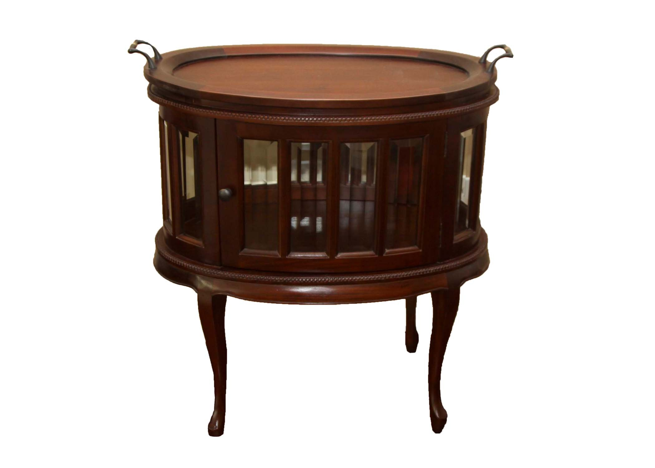 Oval Vitrine With Tea Tray By Arhaus Furniture ...