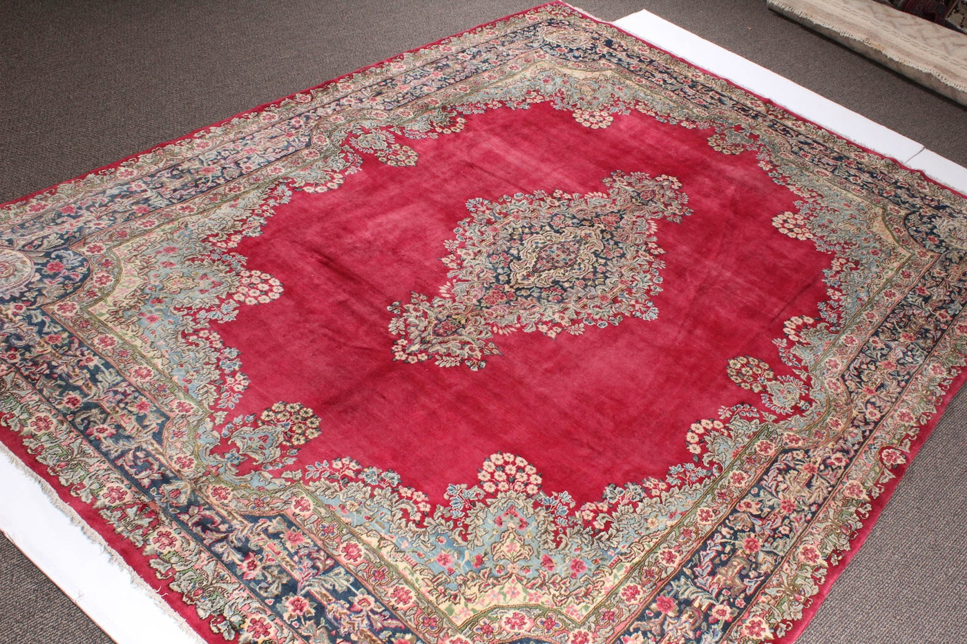 Hand Knotted 9 10 Quot X 13 6 Quot Persian Kerman Room Size Area