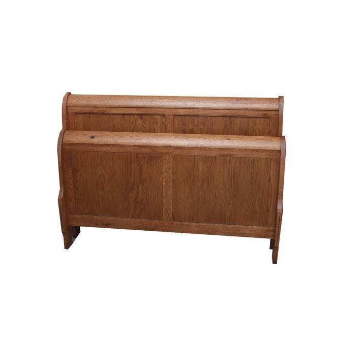 Contemporary Queen Size Sleigh Bed Frame