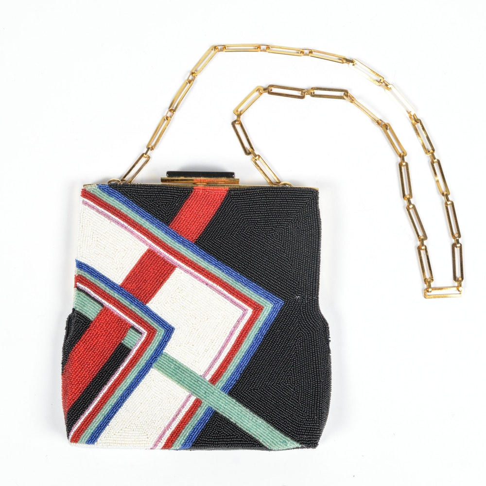 1970s Pierre Cardin Beaded Evening Bag