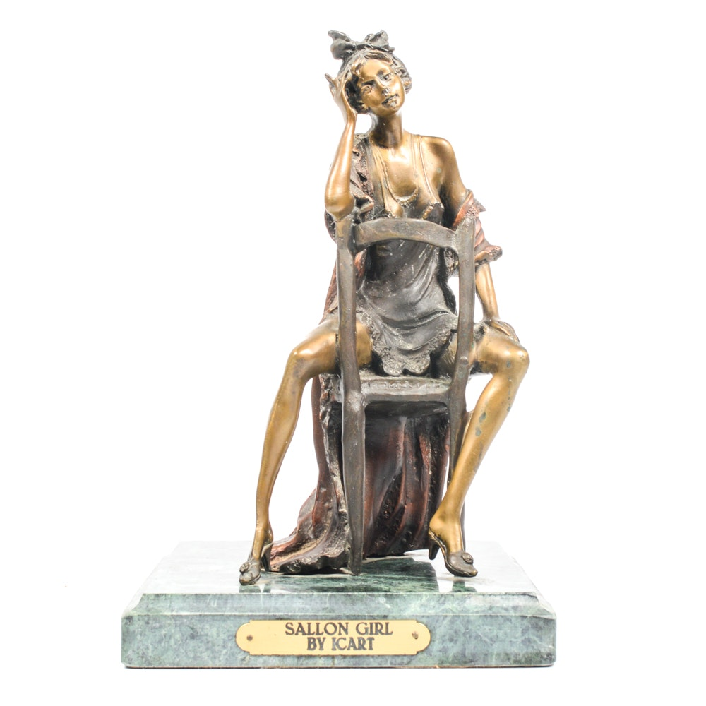 Louis Icart Reproduction Bronze Sculpture