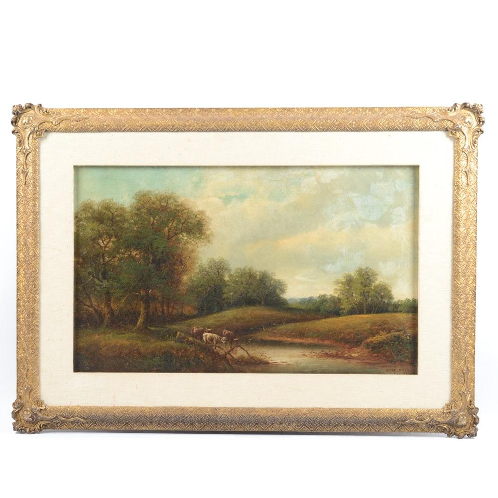 """George Harrison Oil on Canvas """"Stapleton"""""""