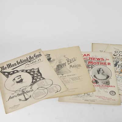 Vintage Sheet Music Compositions by John Phillip Sousa and Others