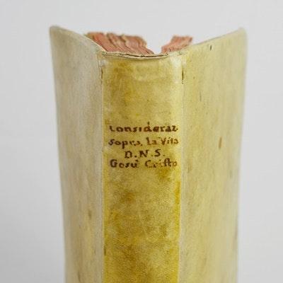 """Rare 1610 Edition of """"Considerationi Sopra Tutta La Vita Giesu"""""""