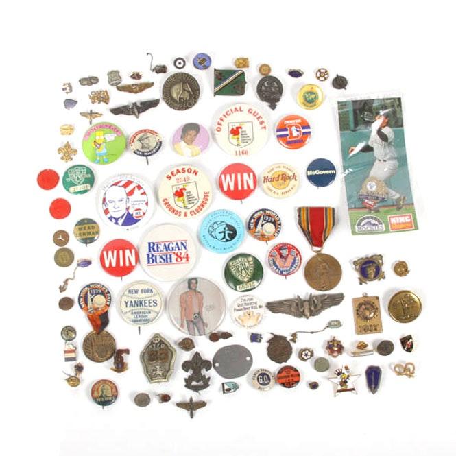 Variety of Vintage Pins