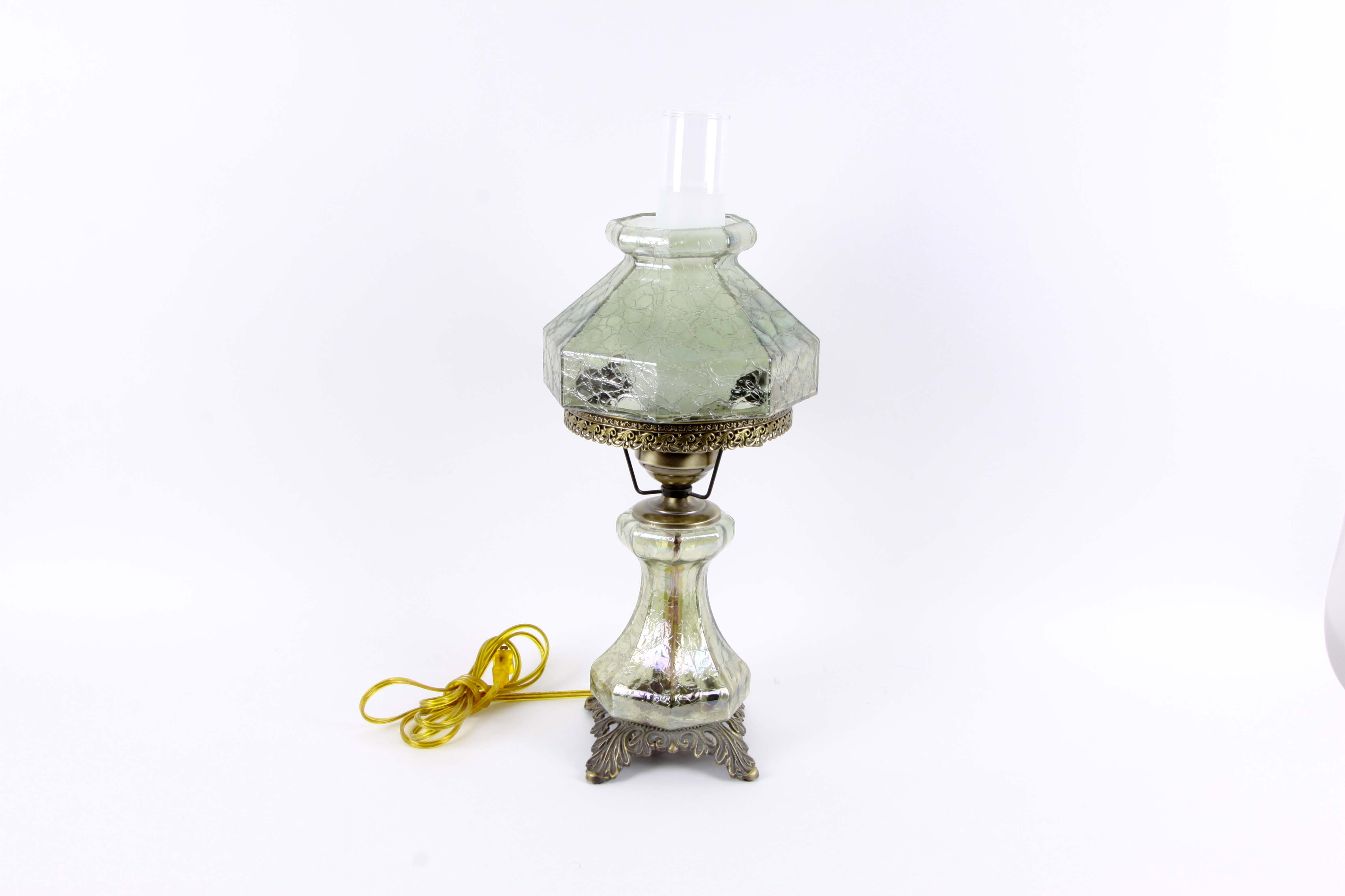 Vintage Style Hurricane Electric Oil Lamp