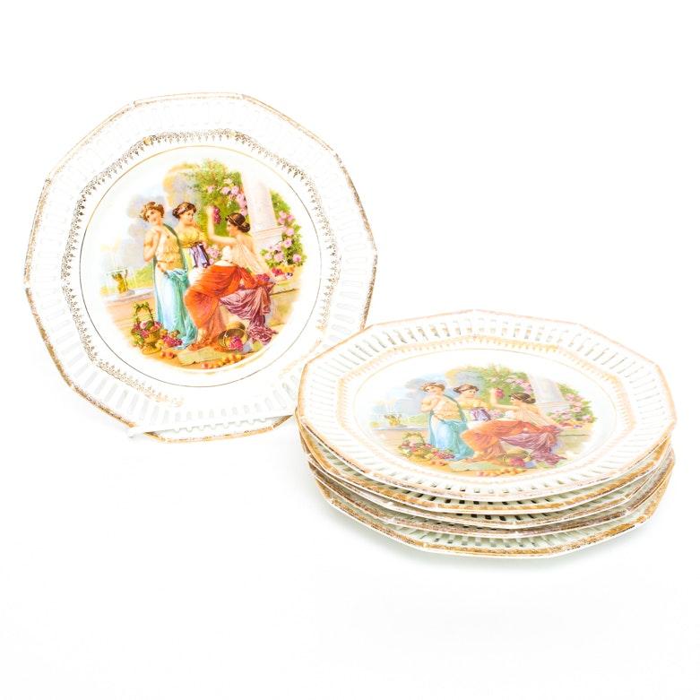 Set of Bavarian Porcelain Plates