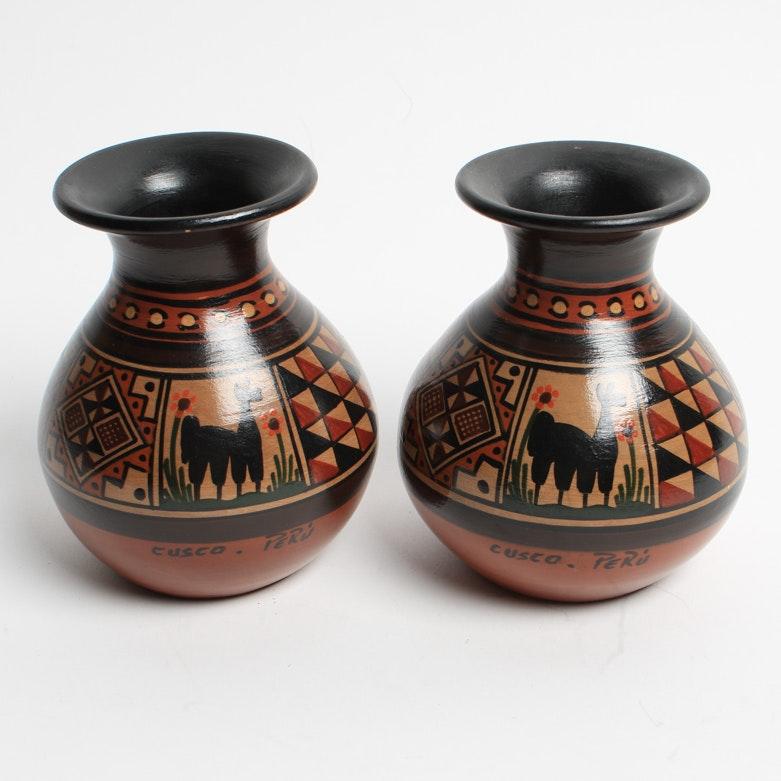 Peruvian Pottery Vases