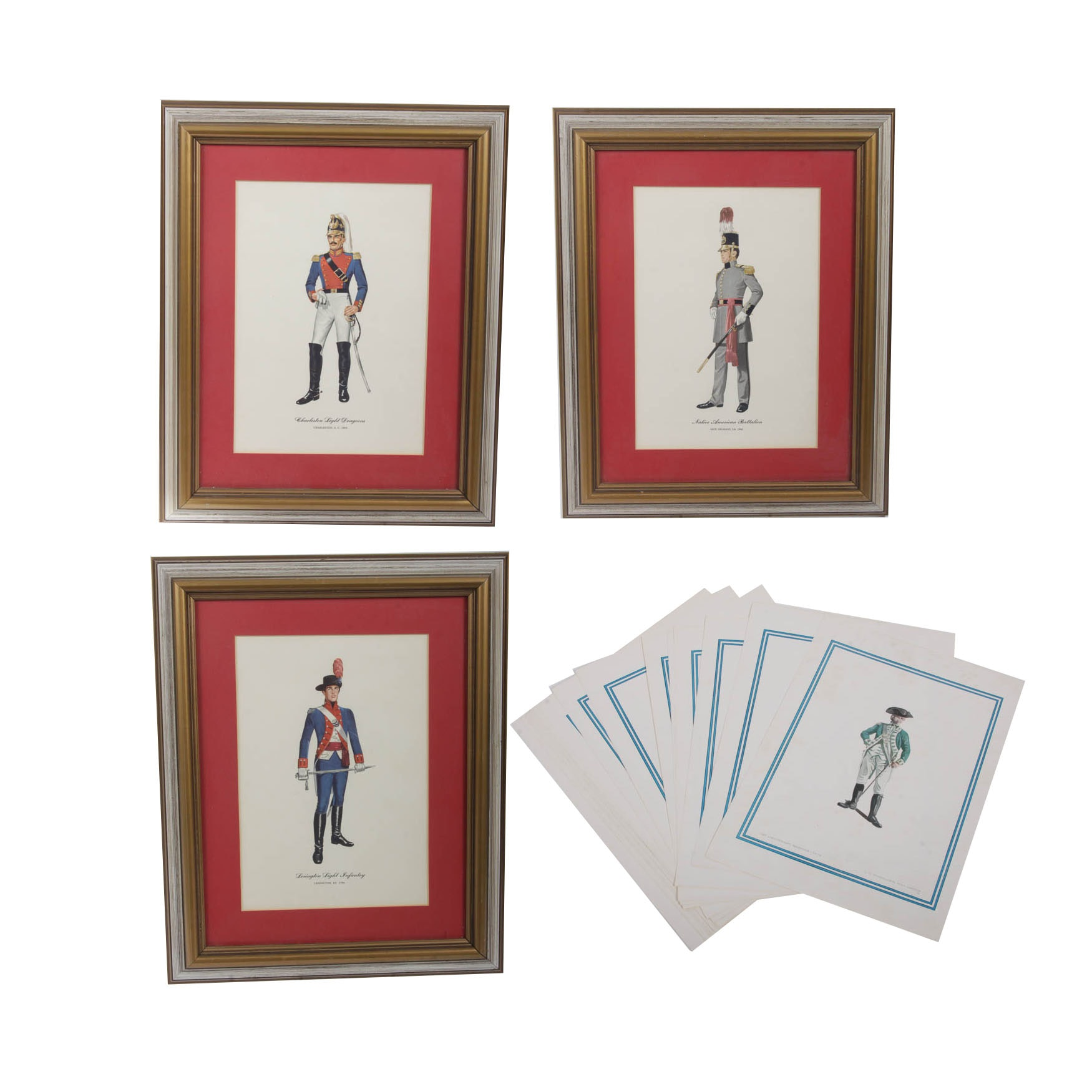Art Print Collection of Historic American Military Uniforms