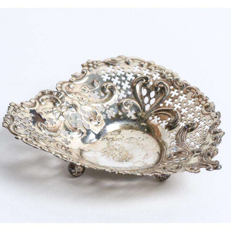Vintage Gorham Sterling Silver Pierced Heart Dish