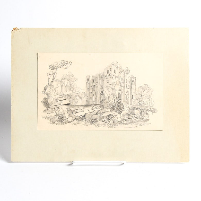 1845 Drawing of Castle