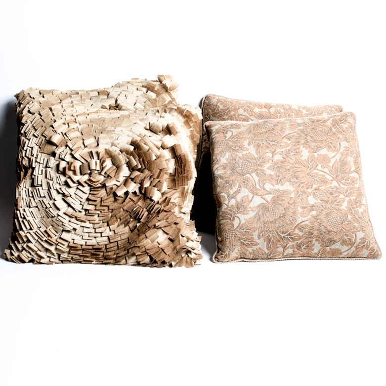 Four Down-Filled Decorative Pillows