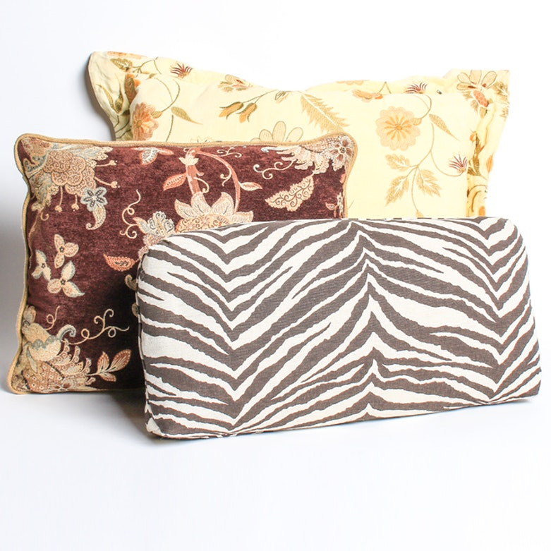 Grouping of Three Decorative Pillows