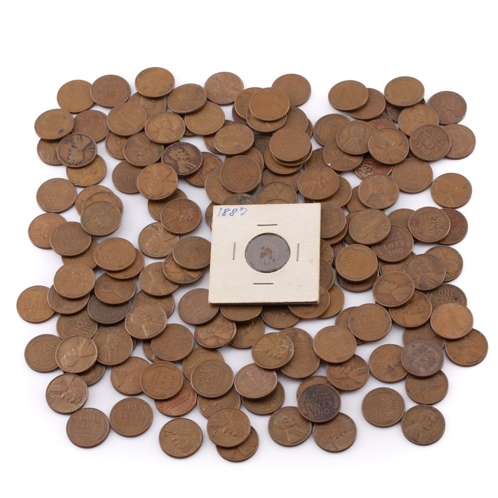 166 Lincoln Wheat Pennies