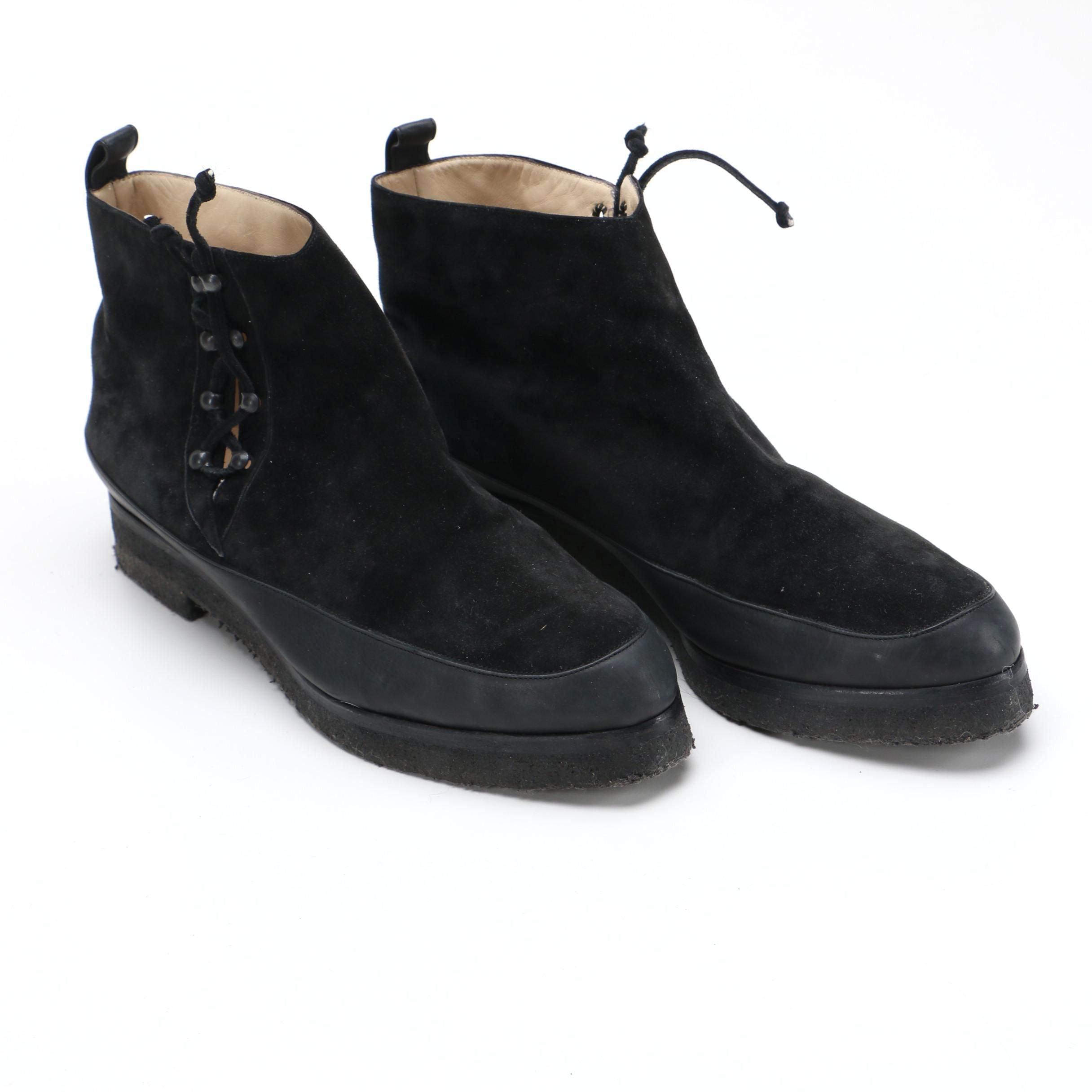 Manolo Blahnik Black Suede Women's Ankle Boots