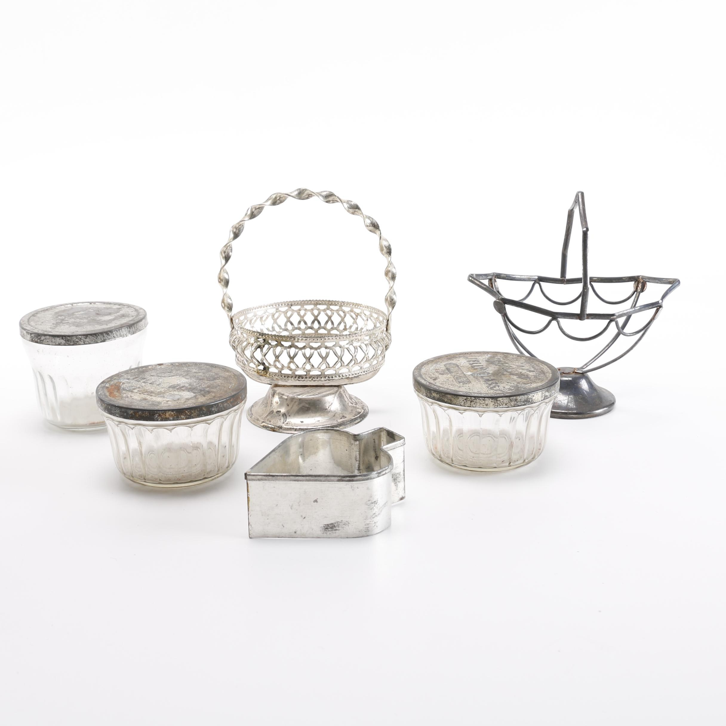 Collection of Glass and Metal Kitchenware