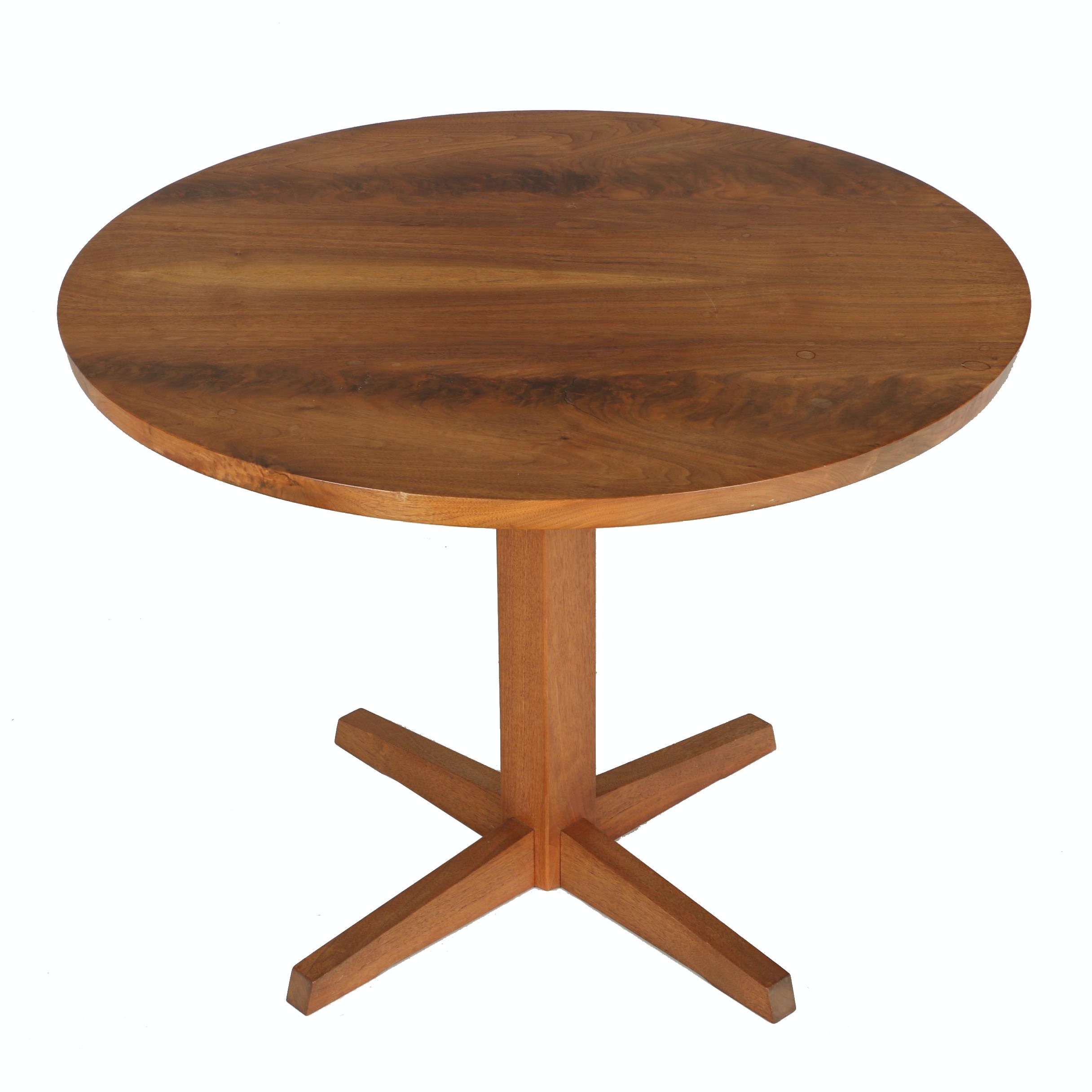 Vintage George Nakashima Round Pedestal Table With Provenance