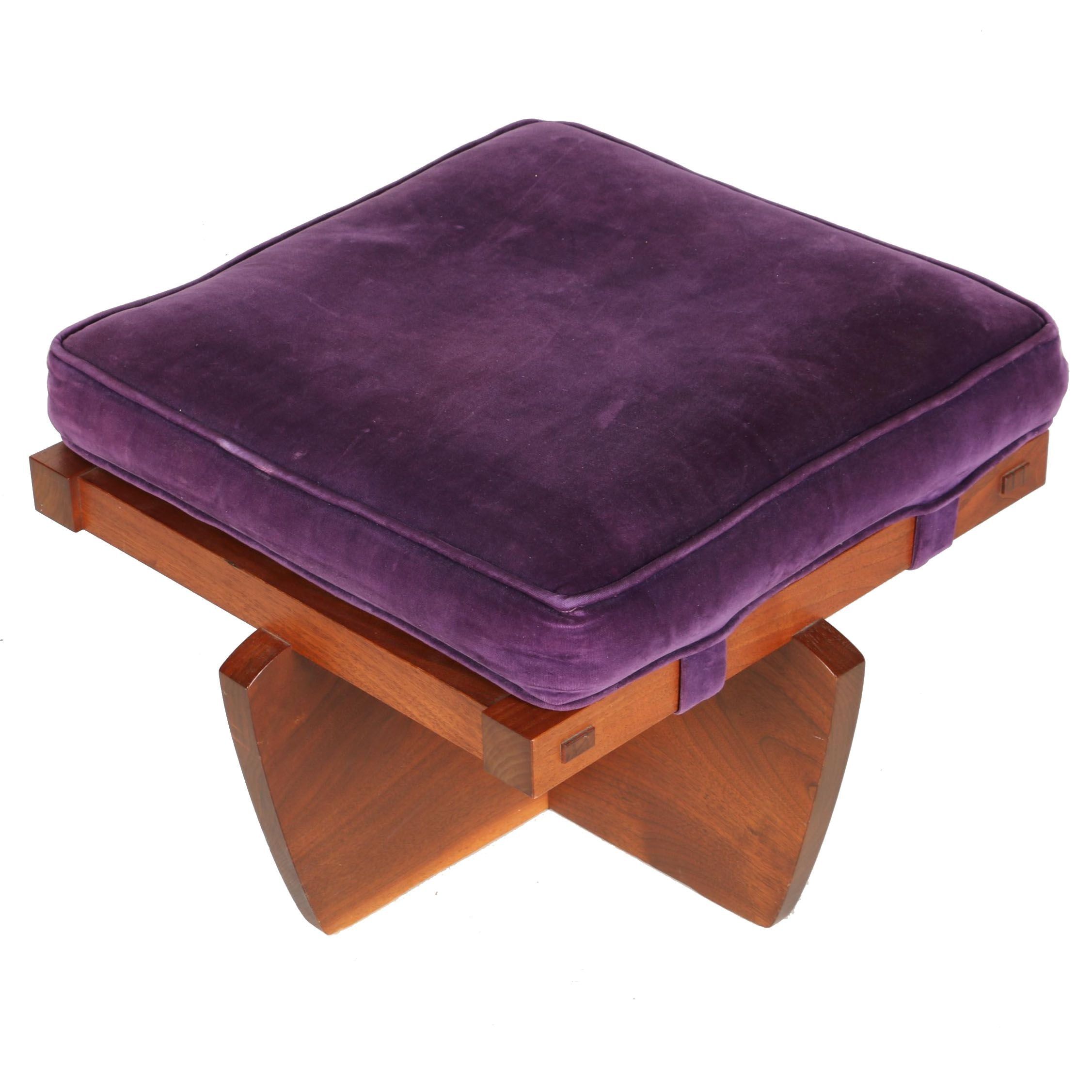 Vintage George Nakashima Ottoman With Provenance