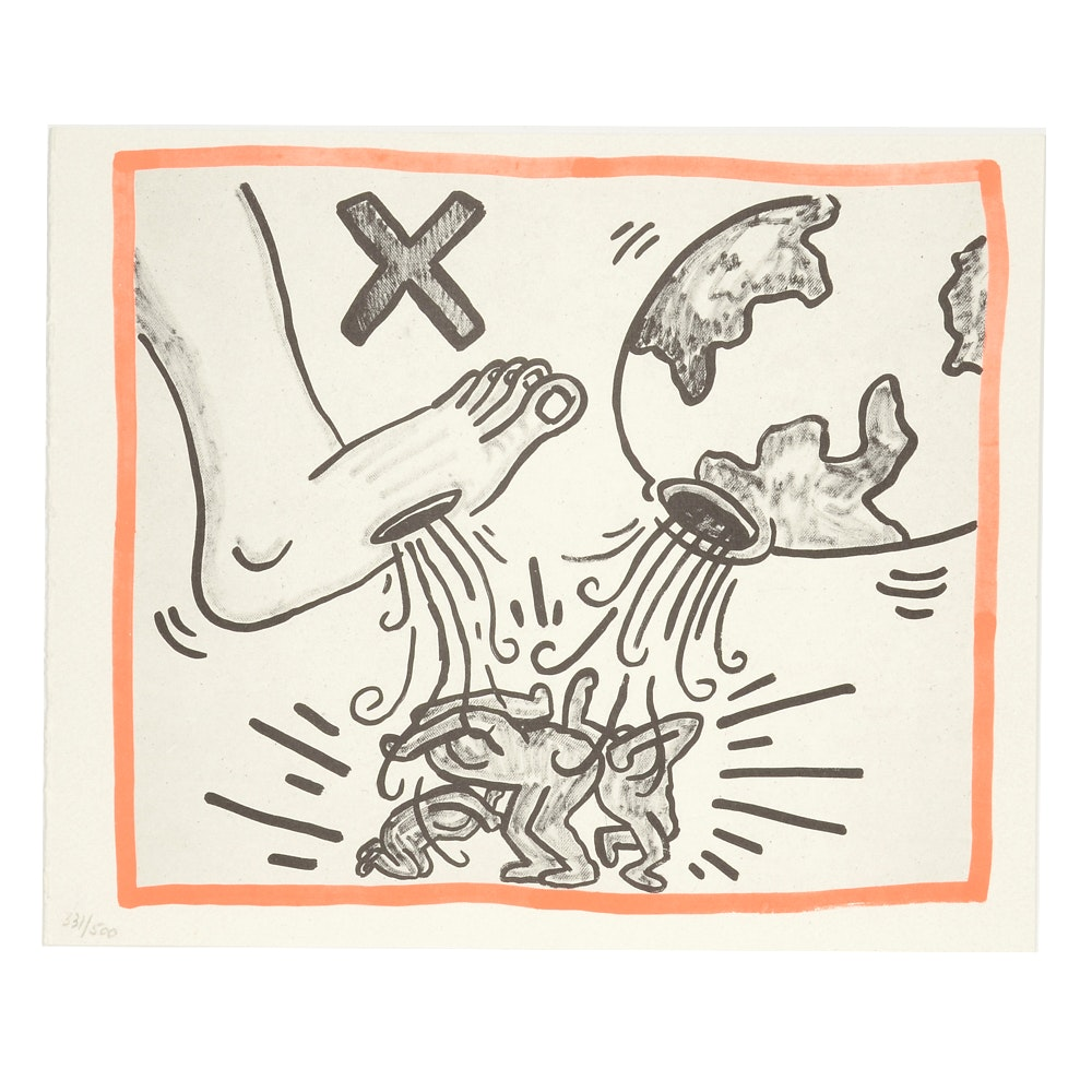 """Keith Haring Limited Edition Print from """"Against All Odds: 20 Drawings"""""""
