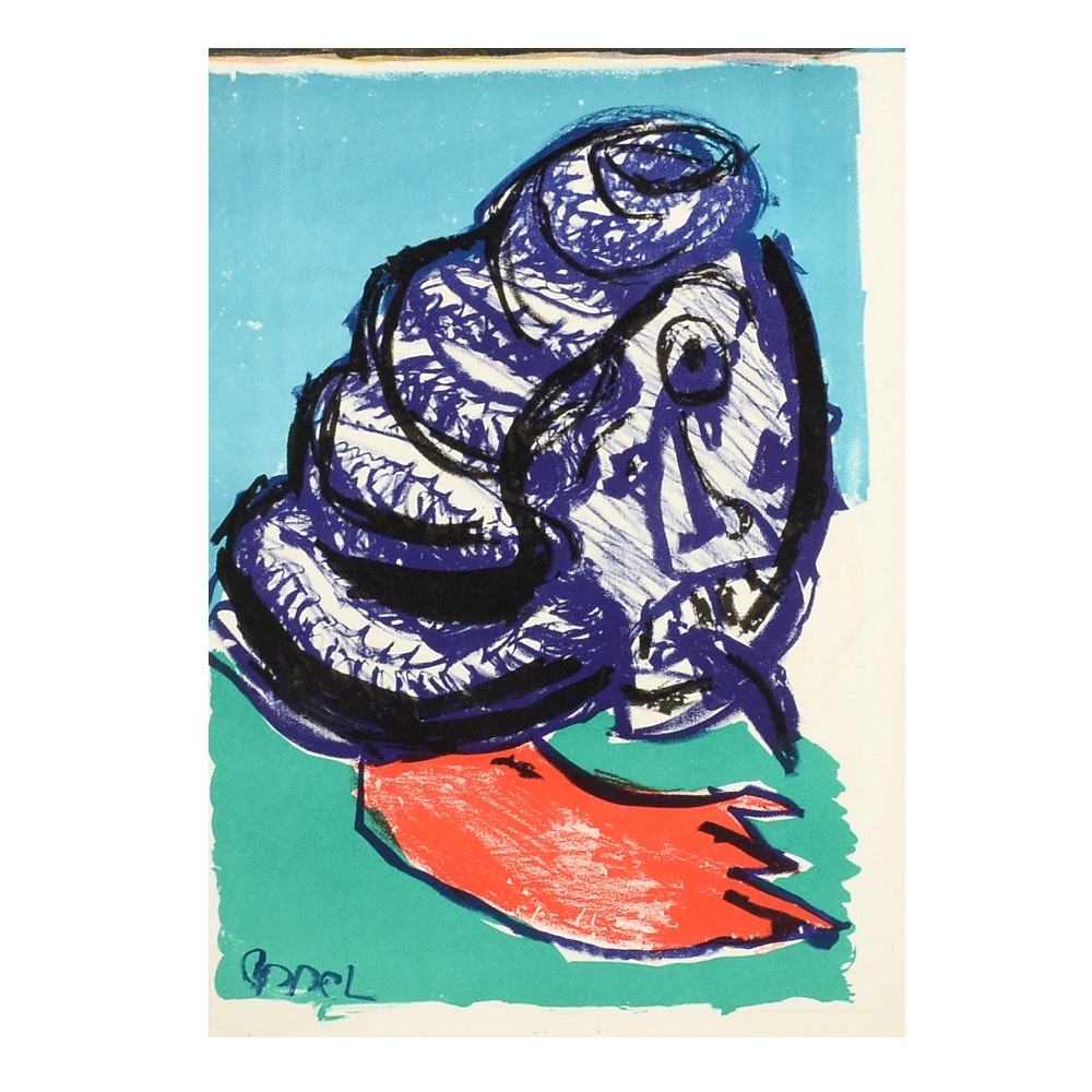 """Karel Appel Limited Edition Lithograph from """"One Cent Life"""" Portfolio"""