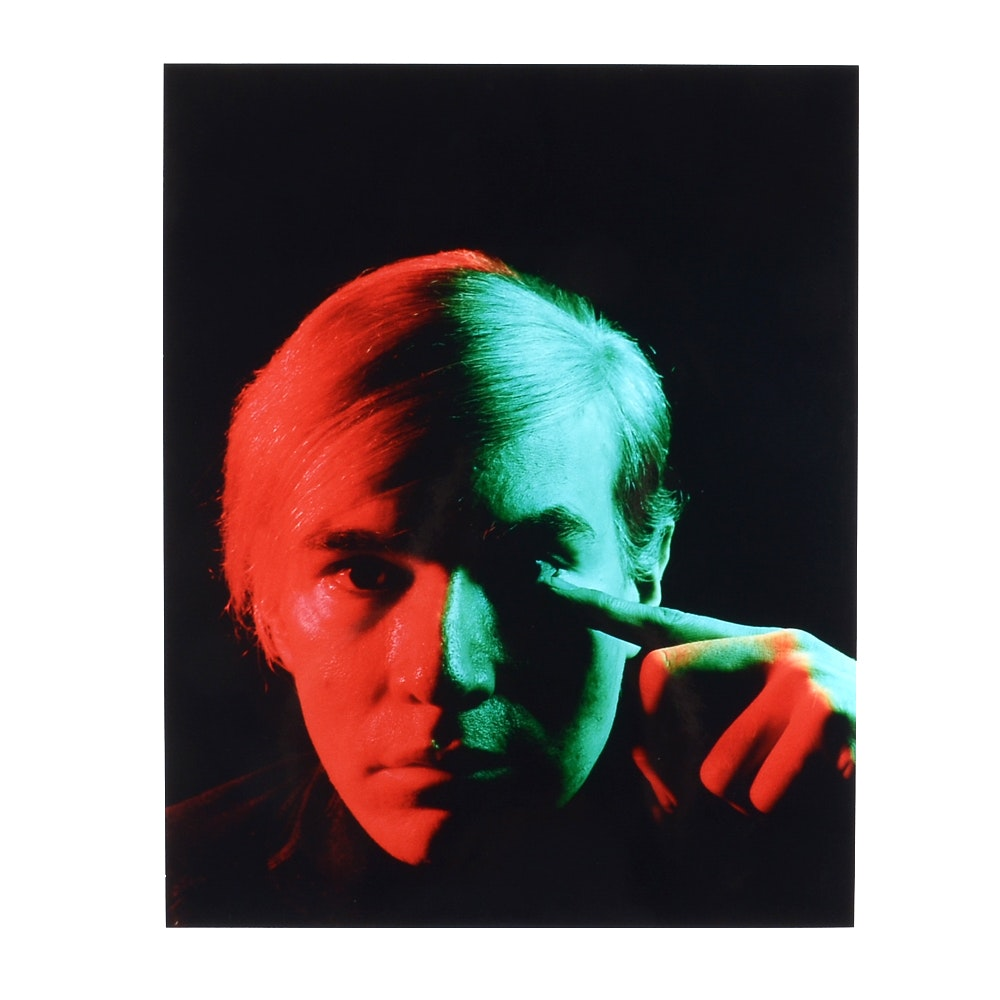 After Philippe Halsman Photographic Portrait of Andy Warhol
