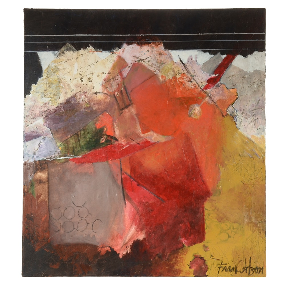"""Fran Watson Original Large-Scale Acrylic on Canvas """"Abstract #3"""""""