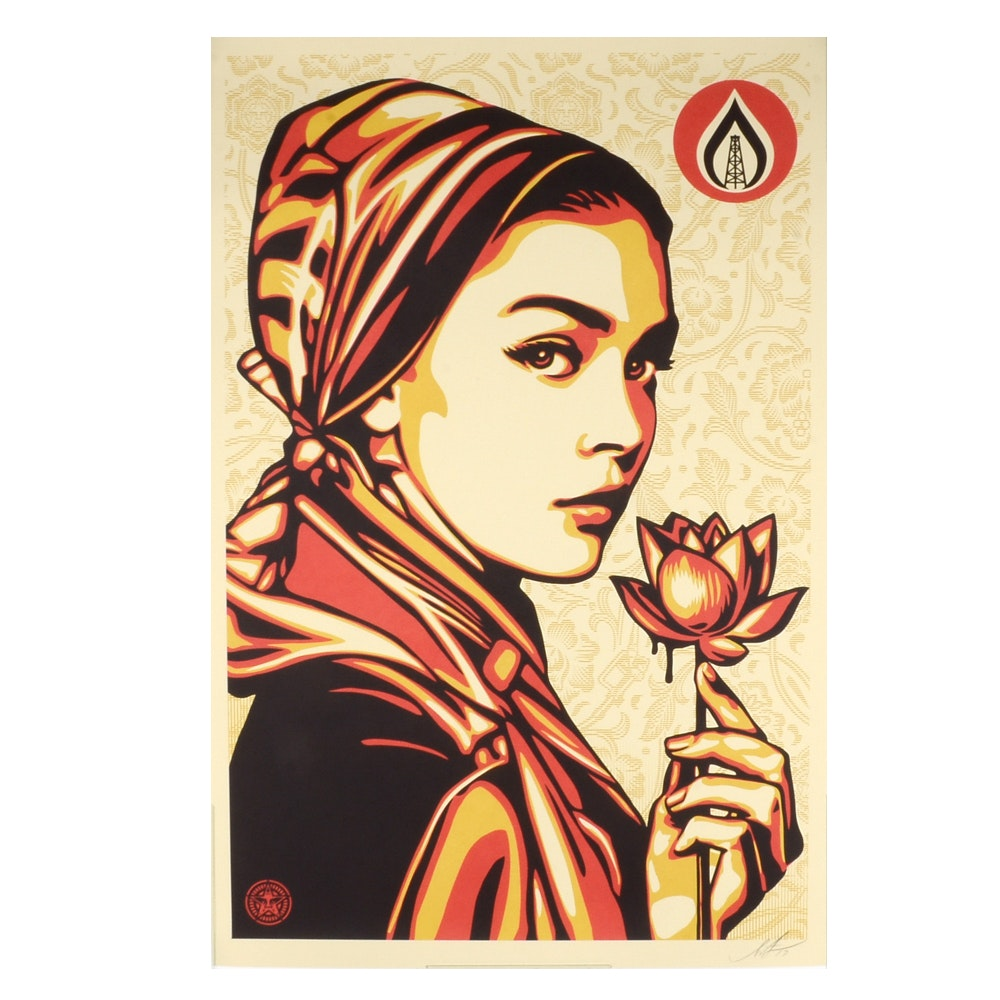 """Shepard Fairey Signed 2016 Open Edition Giclée """"Natural Springs"""""""