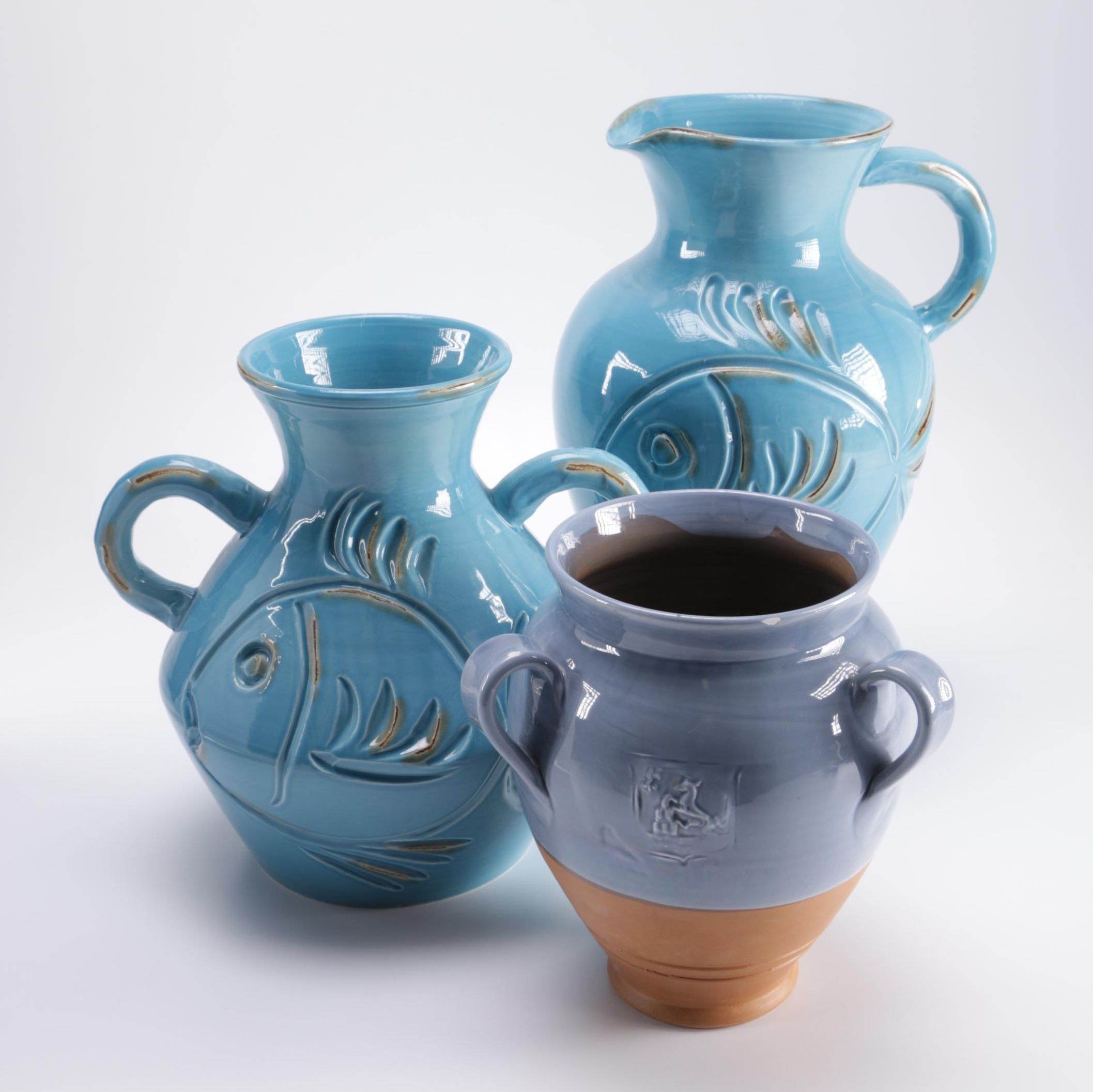 Selection of Vietri Vases